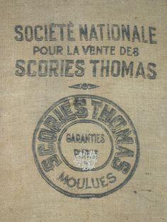 Vintage French Burlap Sack *re-create image