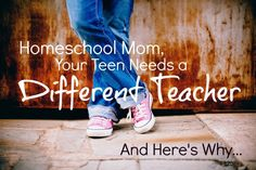 I think homeschoolers, ALL homeschoolers but especially tweens and teens, need to have a different teacher than mom from time-to-time and here's why. High School Teen, Homeschool High School, Homeschooling, Seventh Grade, Eighth Grade, Learning Styles, Kids Learning, Picture Stand, Middle Schoolers