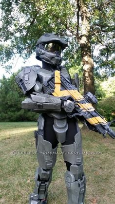 Halo 4 Master Chief Costume for 12-Year Old Boy Completely Scratchbuilt!...