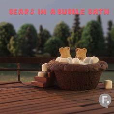 Bears in a Bubble Bath