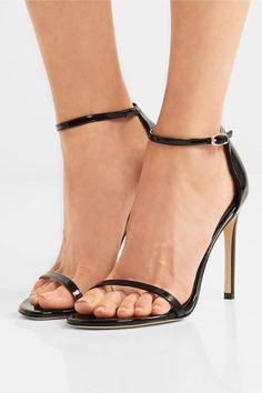 Stuart Weitzman - Nudistsong Patent-leather Sandals - Black - IT39.5