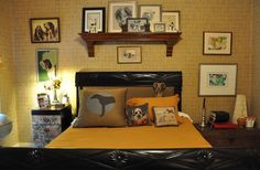 Ofer & Randy's Flea Market Collections Dog-themed guestbedroom OMG!!!