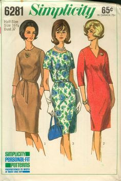 Simplicity 6281 - mine is size 42 bust 44