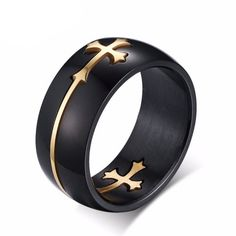 Religious Stainless Steel Men Women Jewelry Religious Cross Ring Jewellery Rings