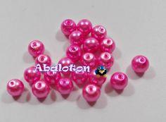 perlas cristal lacado rosa 8mm