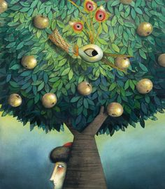 marie desbons illustrations - Google Search Hermes Shop, Naive, Bird Art, Fairy Tales, Animation, Trees, Collage Ideas, Painting, Inspiration