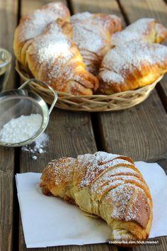 Bread Recipes, Baking Recipes, Cookie Recipes, Dessert Recipes, Kiflice Recipe, Torte Recepti, Croissant Recipe, Serbian Recipes, Bread And Pastries
