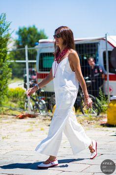 Viviana Volpicella Street Style Street Fashion Streetsnaps by STYLEDUMONDE…