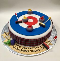 A place to report on my adventures with cakes and baking Sports Birthday Cakes, Canada Birthday, Curling Stone, Cake Blog, Food Themes, Sweet Life, Themed Cakes, Cake Designs, Amazing Cakes