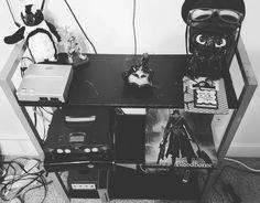 On instagram by dawns_darksoul_ #nes #microhobbit (o) http://ift.tt/23vI1RT have the lamest set up #penguin #toothless #glasses #beanie #howtotrainyourdragon #xbox #playstation #ps4 #gamecube #wii #nintendo #n64  #videogames #gamer #majorasmask #figurine #insense #fog #smoke #blackandwhite