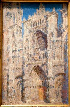 A luz muda constantemente, e isso altera a atmosfera e a beleza das coisas a cada minuto. Claude Monet    Catedral de Rouen, sol brilhante (1892-4) Claude Monet - Musee d'Orsay, Paris    Considerada como uma das grandes pinturas modernas do século XIX.    A luz era tudo o que interessava a Monet. A fim de apontar este fenômeno pintou todas as variações possíveis em um único tema