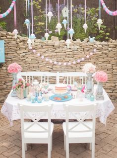 Adorable as a treat table for kids.