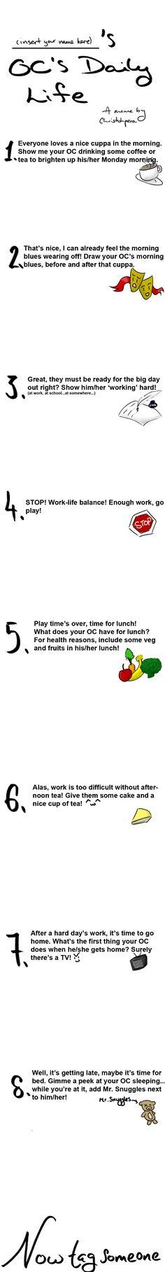 OC's Daily Life Meme by christohpera