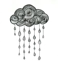 Cloud drawing 21 29 cm 2015 by Valentine Fasquel paper drawing tattoo lines cloud rain art Zentangle Drawings, Doodle Drawings, Zentangle Patterns, Easy Drawings, Tattoo Drawings, Zentangles, Tattoo Linework, Cloud Drawing, Drawing Base