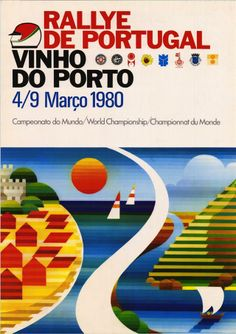 título Rallye de Portugal : Vinho do Porto edição [Lisboa] : Automóvel Clube de Portugal, 1980 dimensões 61 x 43 cm. descritores Automobilismo Portugal 1980 Texto do cartaz: 4/9 Março 1980. Campeonato do mundo = World championship = Championnat du Monde