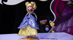 Blondie Lockes™ in elegant dress with a lovely pair of blue gloves, mask, purse stand, hairbrush included. Official from the toy fair thanks to Mattel™ for making