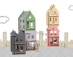 Lille Huset Urban Doll houses Special Edition by lillehuset, $39.00