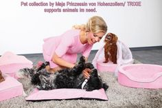 Pet collection for dog Prince & Princess by Maja Prinzessin von Hohenzollern /Trixie donates to animals in need. http://www.tiierisch.de/produkte/maja-prinzessin-von-hohenzollern-hunde-kollektion/prinzessin