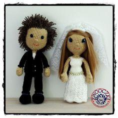 Crochet Bride and Groom. www.facebook.com/zwooczki