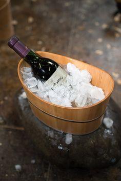 Wine Cooler by Zest #zenpuls #japan #handcrafted #handmade #woodwork #wood #interior #design #winetime #wine #finewines #wines #sprites #ice #cooler
