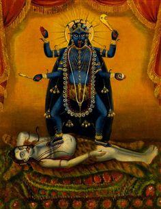 Darshan: A Gallery of Kali Ma Images Kali Tattoo, Mother Kali, Divine Mother, Kali Goddess, Mother Goddess, Goddess Art, Hindus, Arte Shiva, Kali Mata