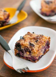 Blueberry Buckle with Lemon Syrup by David Lebovitz #Cake #Buckle #Blueberry #Lemon
