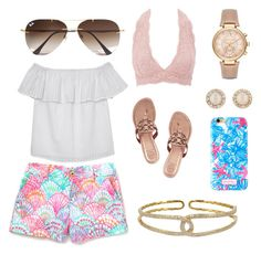 """""""Untitled #10"""" by katelinbullock on Polyvore featuring Olive + Oak, Charlotte Russe, Tory Burch, Michael Kors, Kate Spade, Ray-Ban, Plukka and Lilly Pulitzer"""