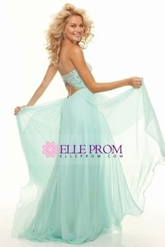 Prom Dresses 2013 A Line Sweetheart Chiffon Open Back USD 159.99 EPP7L71NGC - ElleProm.com for mobile