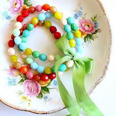 Painterly Bracelet trio by nestdecorating, via Flickr
