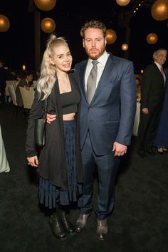 Alexandra Lenas and Sean Parker Sean Parker, Chanel Party, Cold Weather, Scene, World, Business, Winter, Outfits, Collection