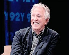 June 25, 2015 - Alan Rickman during a 92Y interview. He had such a great smile.!!