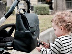 For Moms Who Hate Diaper Bags. Mina Baie offers a variety of beautiful, stylish, everyday luxury baby bags for moms and dads. According to The Bump, our Harper Backpack is the Best Leather Backpack Diaper Bag. Black Diaper Bag, Leather Diaper Bags, Best Diaper Bag, Baby Diaper Bags, Diaper Bag Backpack, Cool Diaper Bags, Louis Vuitton Diaper Bag, Luxury Diaper Bag, Best Leather Backpack
