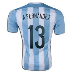Augusto Fernandez 13 2015 Copa America Argentina Home Soccer Jersey