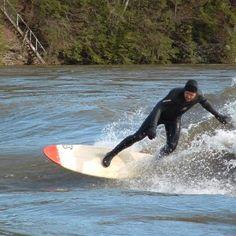 #Riversurfing on the WaveOSaurus on the Connecticut river, located near Holyoke, Massachusetts.#Riverbreak http://riverbreak.com