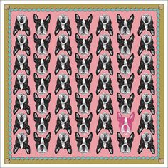 "I figure once you own clothing items emblazoned with dogs, that officially makes you a ""crazy dog person"", right? I mean, I already have a flying Schnauzer t-shirt, so I may as well go full-blown crazy with one of these awesome silk scarves by Lisa Bliss!"