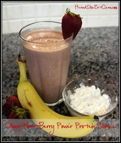Choco-Nana-Berry Power Protein Shake - The perfect post AM Workout Smoothie to feed your muscles and get you going!