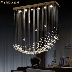 umm wow, amazing chandelier Free Shipping Simple Fashion Modern LED Moon Ship Crystal Chandeliers Lights Dining Room Chandeliers Lamp Customizable-in Chandeliers from Lights & Lighting on Aliexpress.com | Alibaba Group