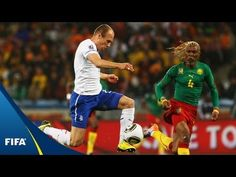 Cameroon - Netherlands, 2010 FIFA World Cup South Africa™: Holland overcame Samuel Eto'o and Co. World Cup Games, World Cup Match, Van Persie, Match Highlights, Fifa World Cup, Lions, Sports, Youtube, Hs Sports