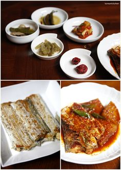 Galchi bobsang (grilled & stewed belt fish table)