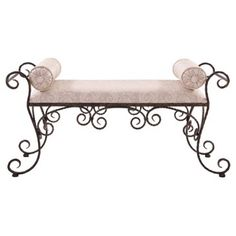 Check out this item at One Kings Lane! Scrolled Iron Bench
