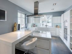 Image result for Stainless Steel Appliances with grey cabinets