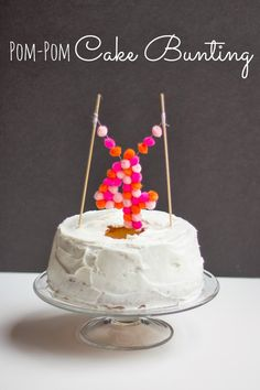 Design Improvised: Pom-Pom Cake Topper