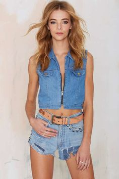 Vintage Shaye Denim Top