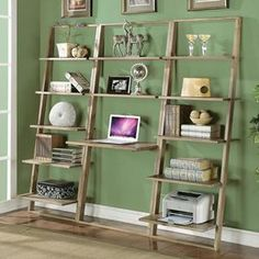 Leaning Desk in Smoky Driftwood | Nebraska Furniture Mart