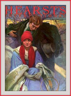 1922 March - Cover - Hearst's - Pleased - artist, Alfonse Mucha