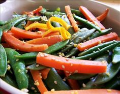 pea side dishes   sesame snow peas and carrots   side dishes