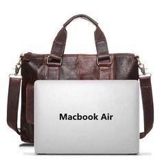 Ekphero Genuine Leather Crossbody Bag Retro Dual-Use Big Capacity Handbag For Men Shopping Online - NewChic