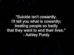 I wish more people would remember this. The amount of people I saw spreading the world about suicide awareness day on twitter ect who usually call suicide selfish shocked me. People need to remember that awareness about suicide shouldn't just  be remembered on one day. It should be remembered everyday. Everyday Im on twitter I have people dming me about them wanting to end their lives. I do all in my power to help them