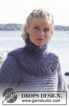 Purple and Peaceful / DROPS Extra 0-204 - Gratis strikkeoppskrifter fra DROPS Design Lace Knitting, Knitting Patterns Free, Free Pattern, Knit Crochet, Cowl Scarf, Knit Cowl, Drops Design, Snood Pattern, Japanese Waves