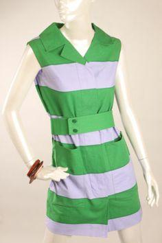 "60s Marimekko Dress Fabric ""Galleria"" Vuokko Nurmesniemi"